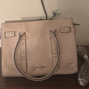 Jessica Simpson faux crocodile blush/pink handbag